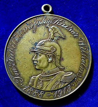 Battle of Großbeeren - Medal for the opening on 23 August 1913 of the memorial tower at Großbeeren, commemorating the 100th anniversary of the battle, obverse