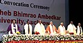 Narendra Modi at the 6th Convocation of Babasaheb Bhimrao Ambedkar University, at Lucknow, in Uttar Pradesh. The Governor of Uttar Pradesh, Shri Ram Naik, the Union Home Minister.jpg