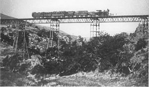 NGR Class K 2-6-0T - 2-6-0T locomotive on the Inchanga viaduct, c. 1886