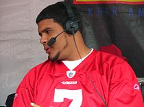 Nate Davis at 49ers Family Day 2009 2.JPG