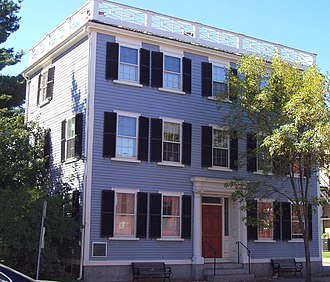 National Register of Historic Places listings in Salem, Massachusetts - Image: Nathaniel Bowditch House Salem, Massachusetts