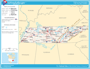 Map of Tennessee - PDF