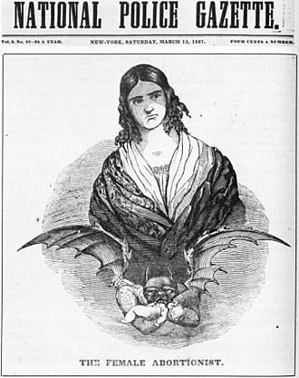George Washington Dixon - Penny press depiction of Madame Restell