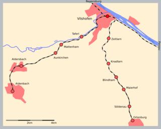 Vilshofen–Ortenburg railway railway line