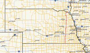 Nebraska Highway 15 - Image: Nebraska Highway 15 map