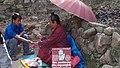 Nepal, Kathmandu, Wahrsager - Handlesen.JPG