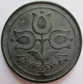Dubbeltje - Obverse 10 cent, 1942.
