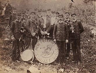 Freeport Township, Greene County, Pennsylvania - New Freeport Cornet Band c. 1900