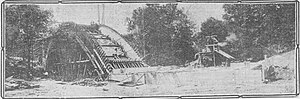 Piney Branch - Construction photo of the 16th Street Bridge over Piney Branch