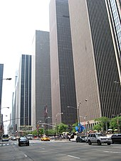 The towers at 1211, 1221, and 1251 Avenue of the Americas