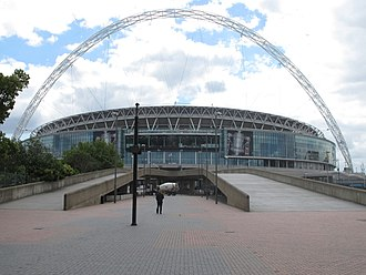 UEFA Euro 2020 - Image: New Wembley Stadium and Arch from Olympic Way geograph.org.uk 2406320