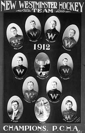 Pacific Coast Hockey Association - New Westminster Royals in 1912.