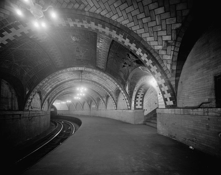 Bestand:New York City City Hall subway station HAER image.jpg