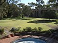 Newman College - courtyard view from Dining.JPG