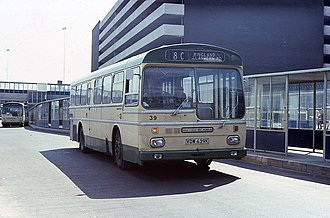 Newport Bus - Metro-Scania at Newport bus station in 1976