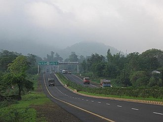 Indian road network - NH7 – section of NSEW Corridor highway in South India