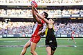 Nic Newman and Dion Prestia marking contest.jpg