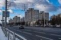 Niezaliežnasci avenue near Uschod metro station (Minsk) 1.jpg