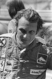 Lauda durante il weekend del Gran Premio d'Olanda 1975