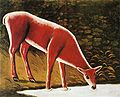 Niko Pirosmani. Roe Deer by a Creek. Oil on oilcloth. Private collection.jpg