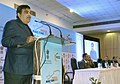 "Nitin Gadkari addressing at the inaugural function of the ""India Maritime 2015"" International Exhibition & Conference on Port, Shipping, Logistics and Marine Technology, in Mumbai on January 08, 2015.jpg"