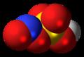 Nitrosylsulfuric acid molecule spacefill.png