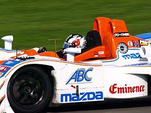 Hideki Noda - Noda driving the Lola B05/40-Mazda of Kruse Schiller Motorsports in the 2008 Le Mans Series season