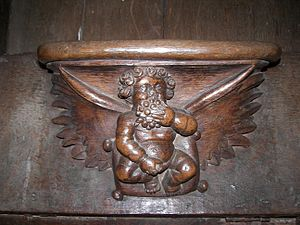 Misericord - Misericord from church Saint-Prix in Noizay (Indre-et-Loire/France), depicting an angel
