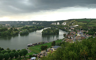 Les Andelys - Panorama from the belvedere of Château Gaillard