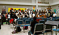 Northwestern HS Choir room and members.jpg