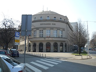 """Media of Croatia - The building in Zagreb where the HND is located is called Novinarski dom, lit. """"Journalists' home""""."""