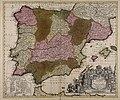 Novissima et accuratissima regnorum Hispaniae et Portugalliae tabula - CBT 5880267.jpg