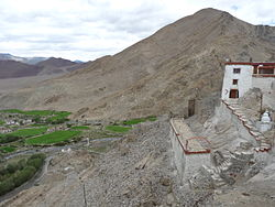 Nyoma's setting as seen from the gompa (Buddhist monastery)