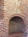 Oświęcim - Zamek wieża, wnętrze, kominek AL012014.JPG