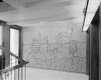 Picasso's Regjeringskvartalet murals - Picasso mural in the Highrise block