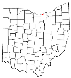 Location of Amherst, Ohio