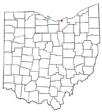 Amherst, Ohio - Image: OH Map doton Amherst