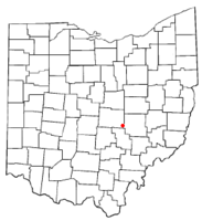 Location of Gratiot, Ohio