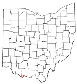 Location of Manchester, Ohio