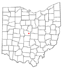 Location of Sunbury, Ohio