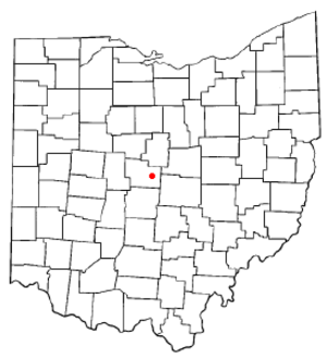 Sunbury, Ohio - Image: OH Map doton Sunbury