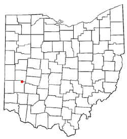 Location of Vandalia, Ohio