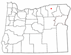 Location of Gopher Flats, Oregon