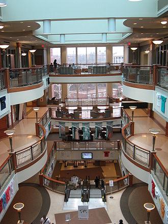 John Calhoun Baker University Center - Interior of Baker Center, as seen from the top floor