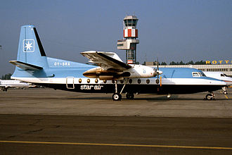 Star Air (Denmark) - One of the original Star Air Fokker F27 Friendships