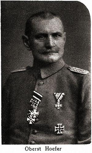 Karl Höfer - Karl Höfer in 1916