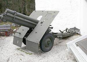 10 cm M. 14 Feldhaubitze - Image: Obice 100 17 mod 1914 Museo storico degli Alpini
