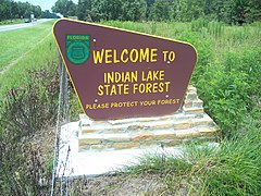 Ocala FL Indian Lake State Forest sign01.jpg