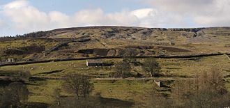 Arkengarthdale - Site of Octagonal Mill with the Hungry Hushes in the background.