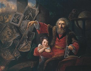 Nathaniel Hone the Elder - Image: Oil sketch for The Pictorial Conjuror by Nathaniel Hone the Elder